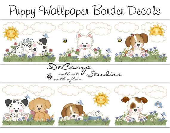 Puppies Wallpaper Border