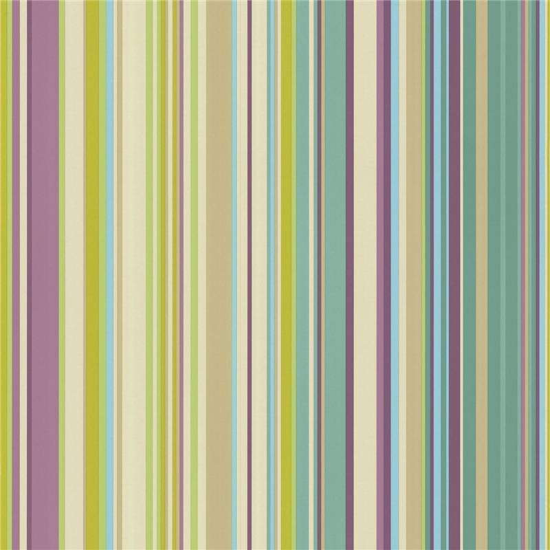 purple and lime green striped wallpaper
