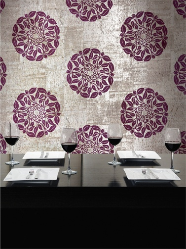 Purple And Silver Metallic Wallpaper