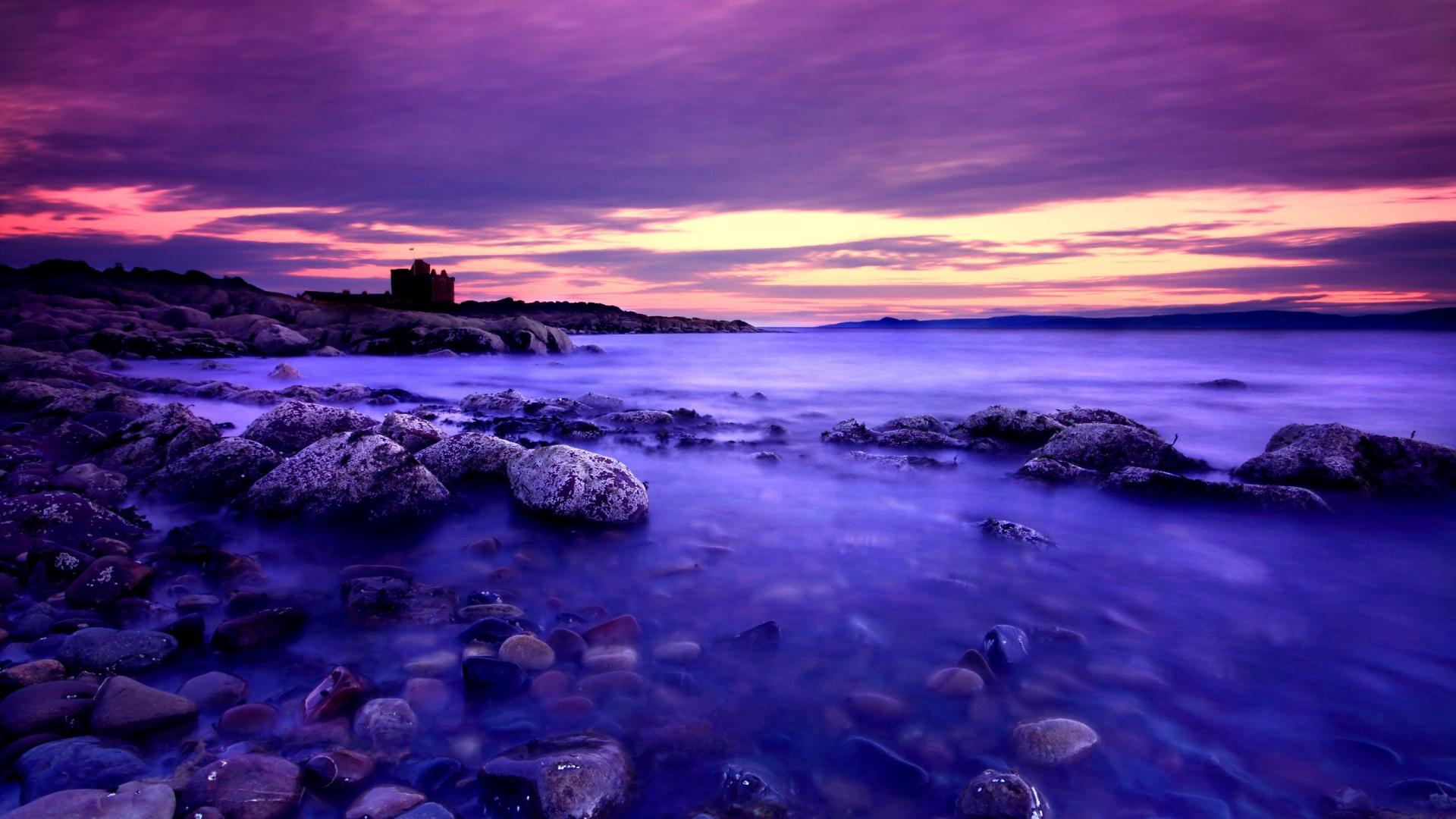 Purple Beach Wallpaper