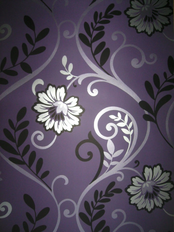 Purple Black And Silver Wallpaper
