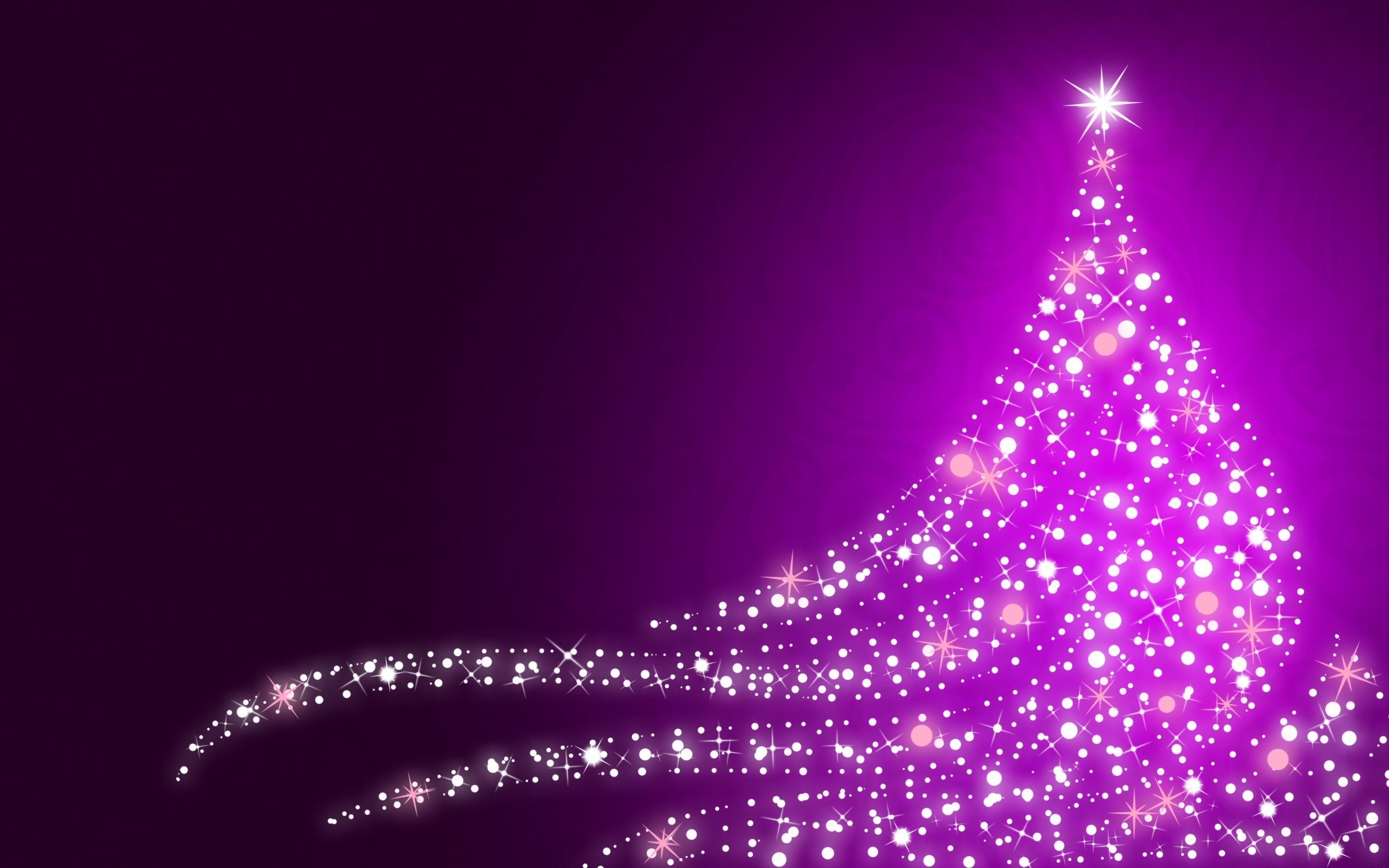 Purple Christmas Wallpaper