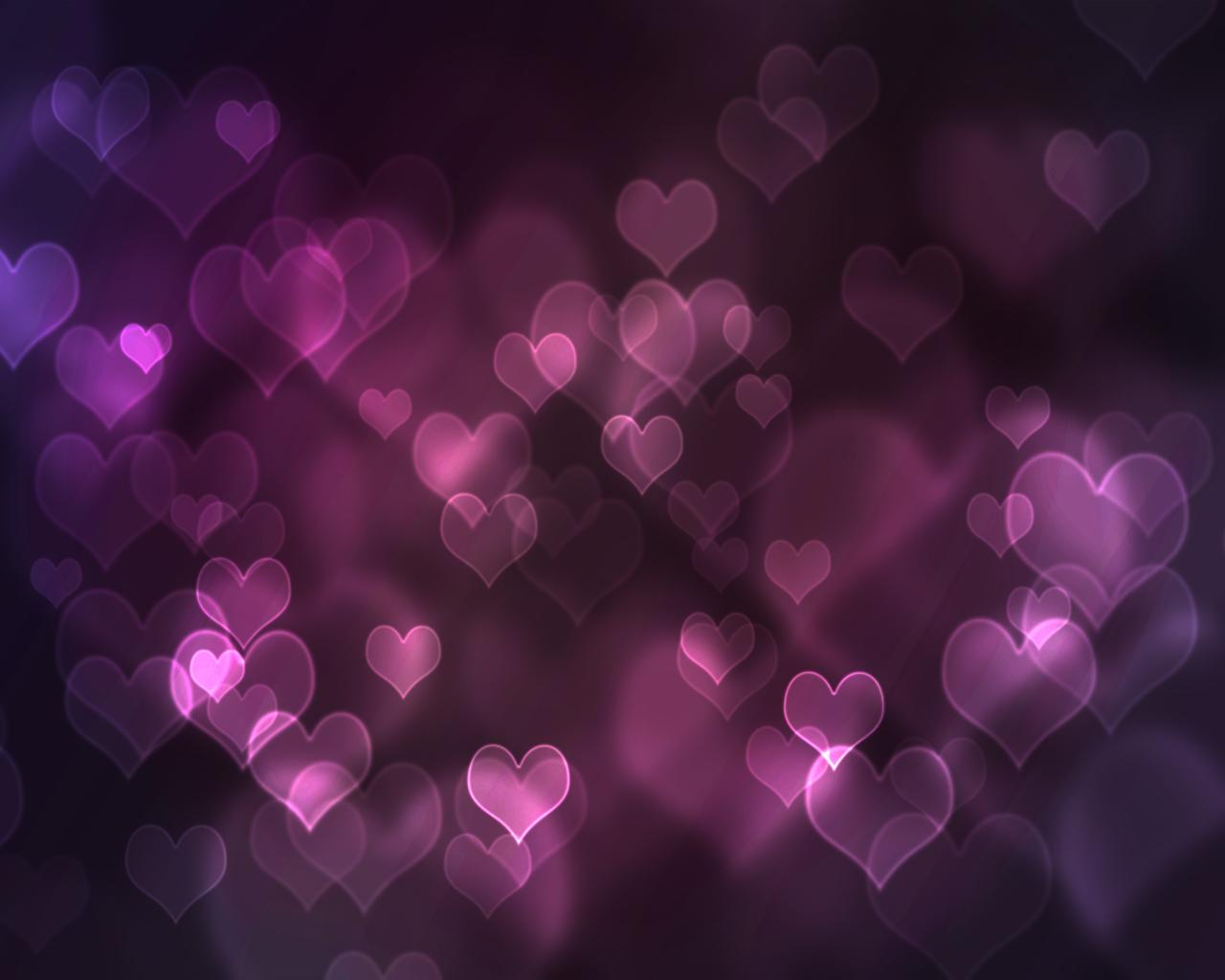 Purple Hearts Wallpaper