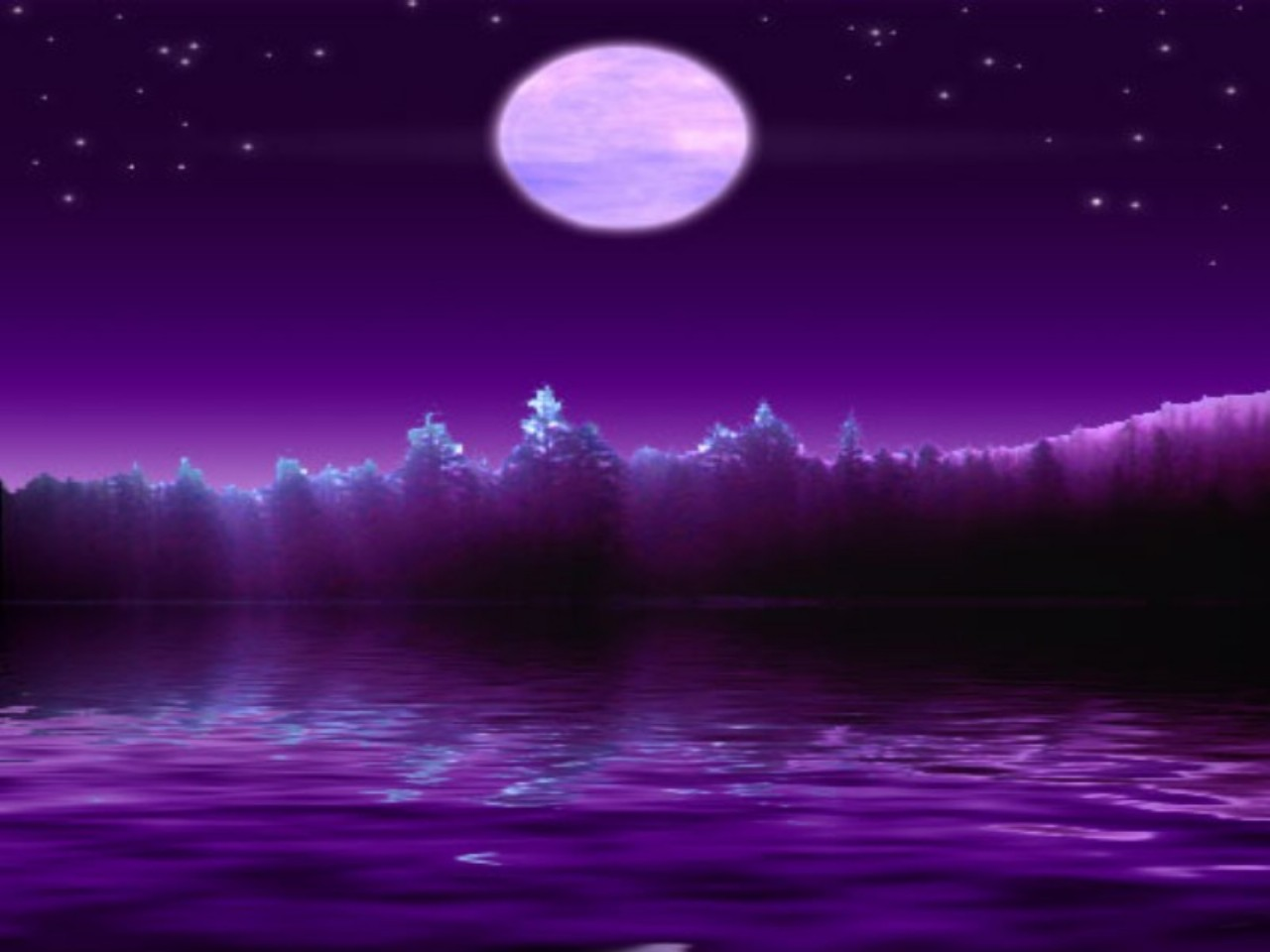 Purple Night Wallpaper