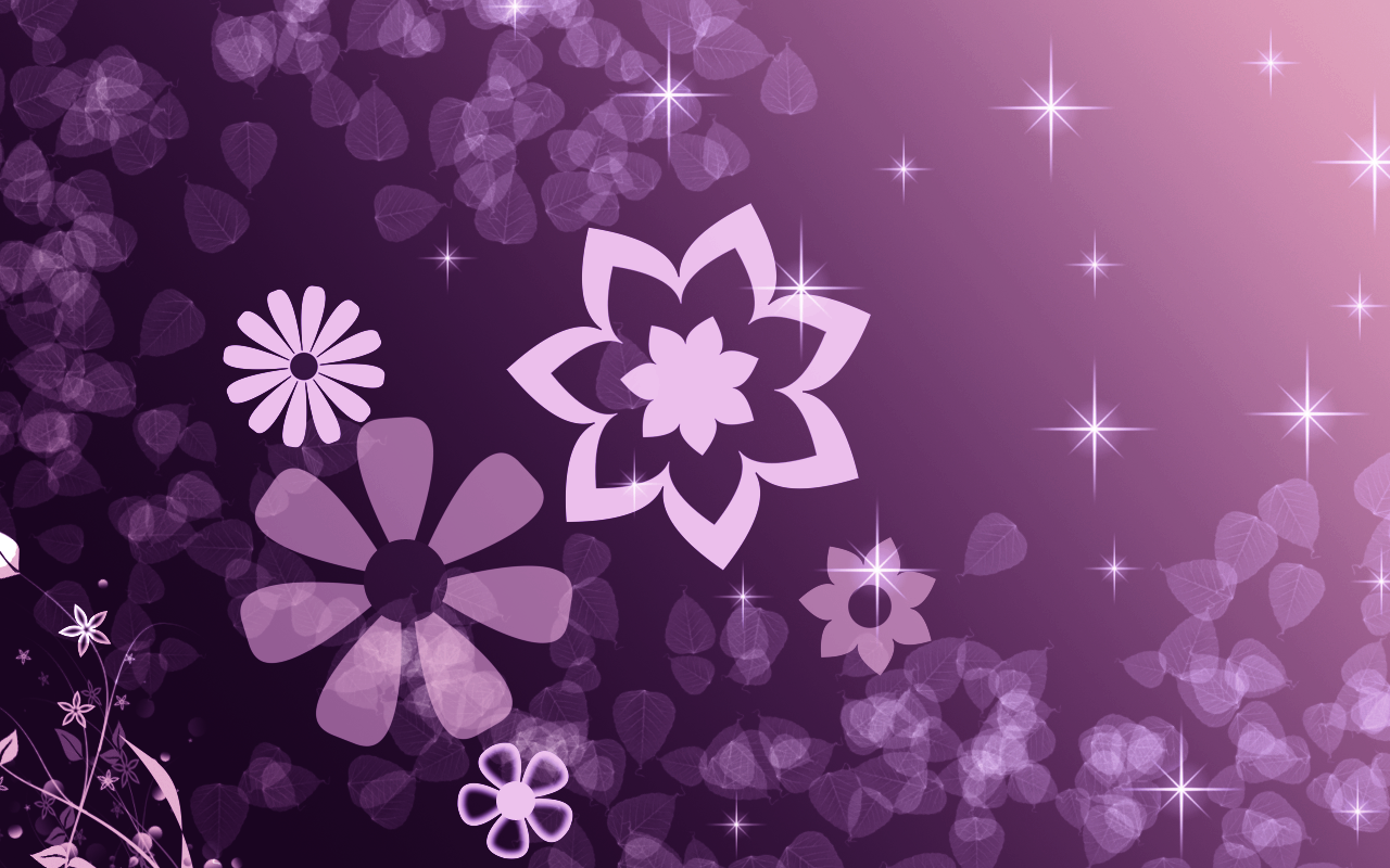 Purple Star Wallpaper