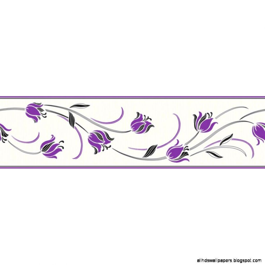 Purple Wallpaper Border
