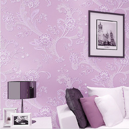 Purple Wallpaper For Bedroom Walls