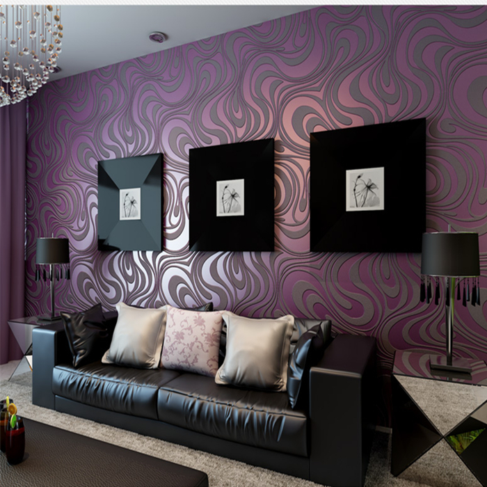 Download purple wallpaper living room gallery for Purple and black living room designs