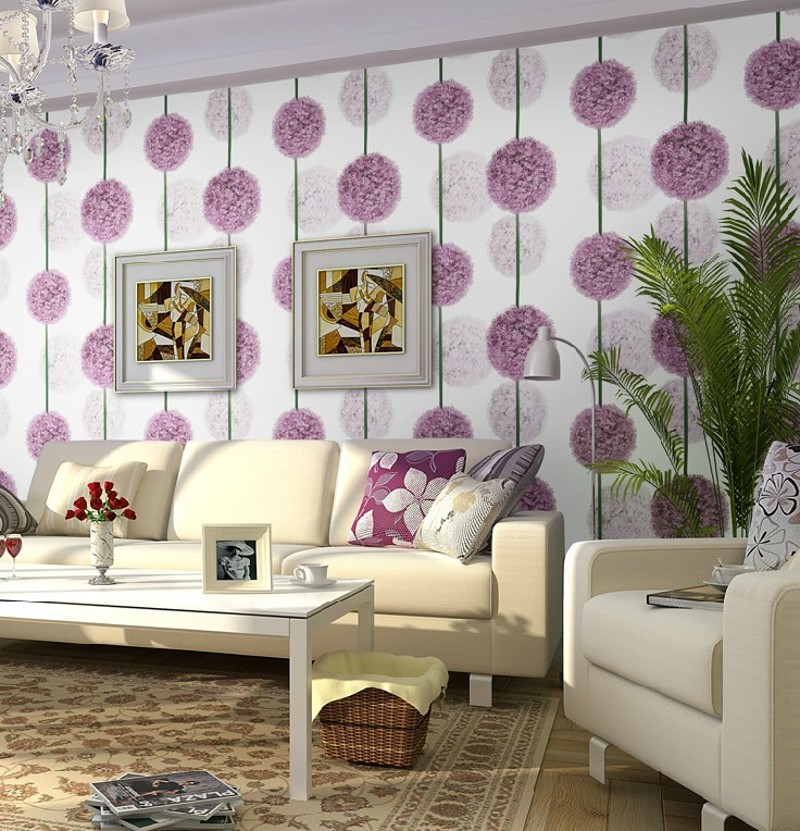 Download purple wallpaper living room gallery for Purple living room wallpaper