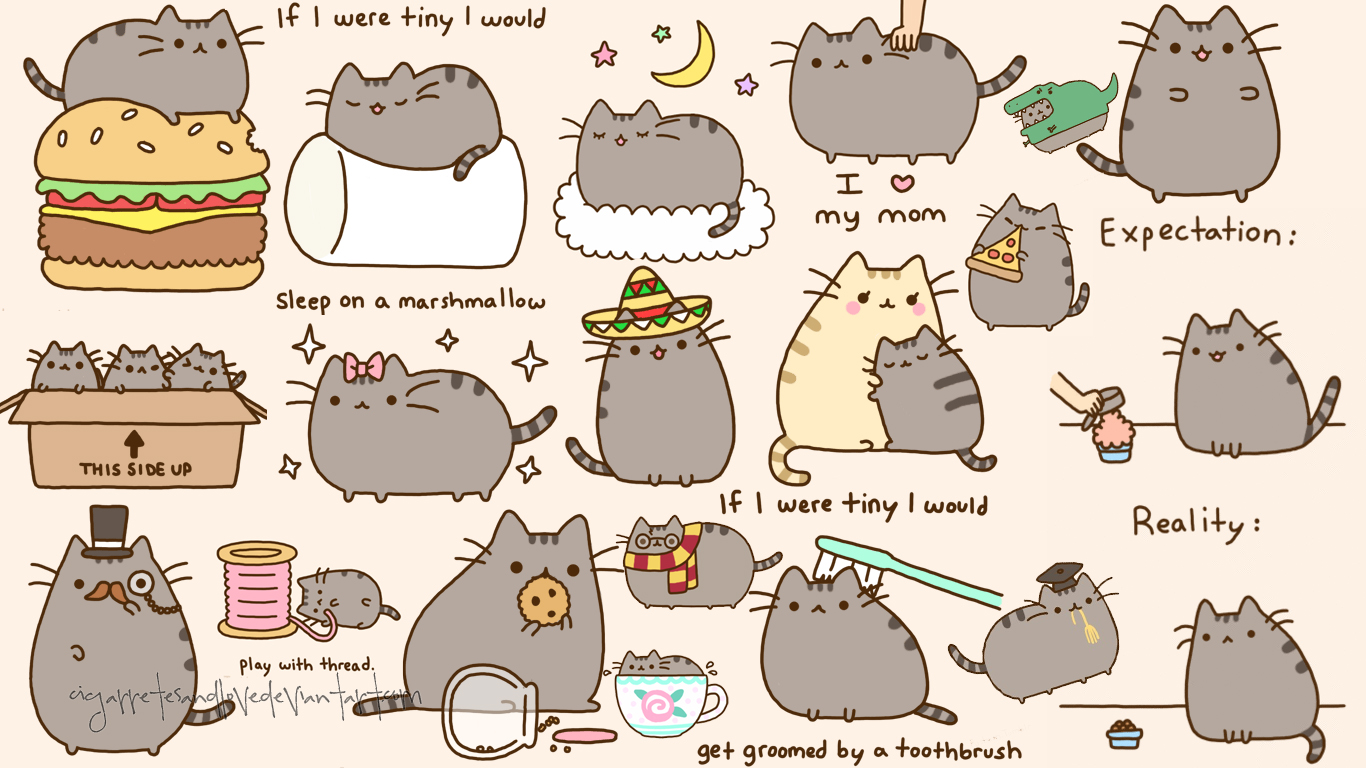 Pusheen Cat Wallpaper