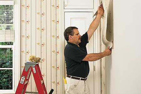 Putting Up Wallpaper