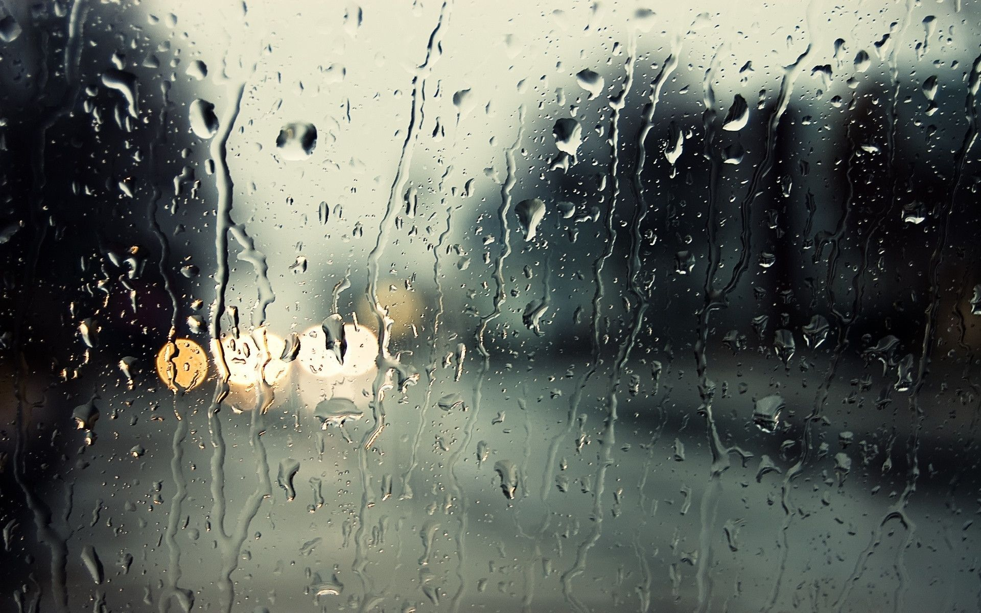 Rain On Window Wallpaper