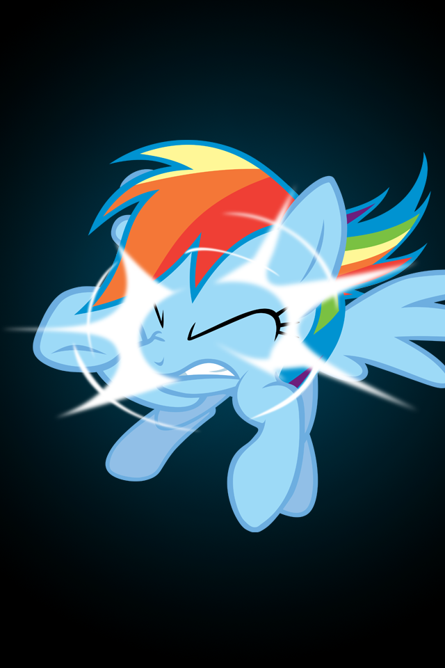 Rainbow Dash Phone Wallpaper