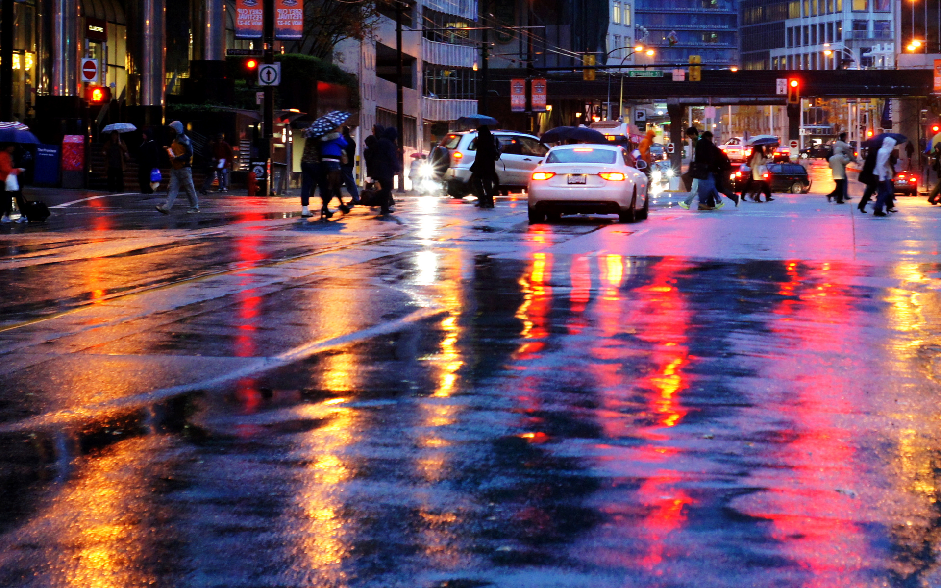Rainy Street Wallpaper