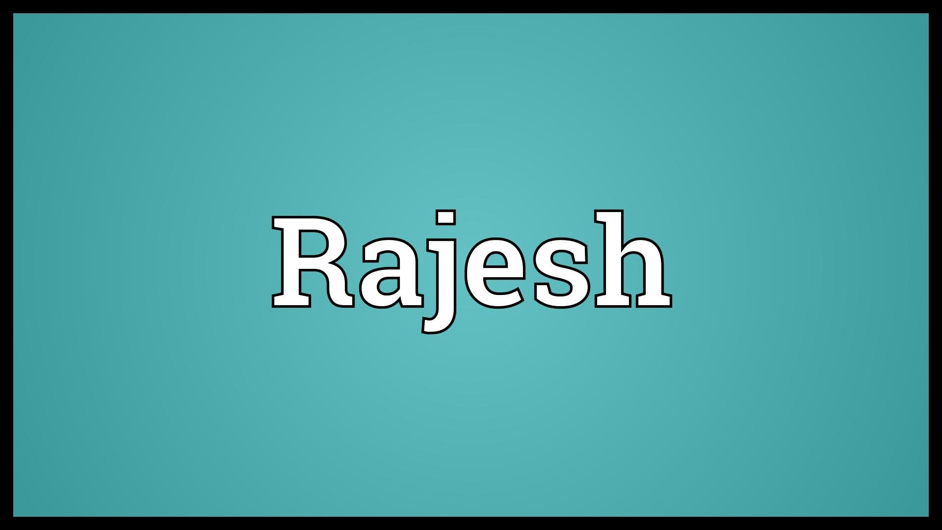Rajesh Name Wallpaper