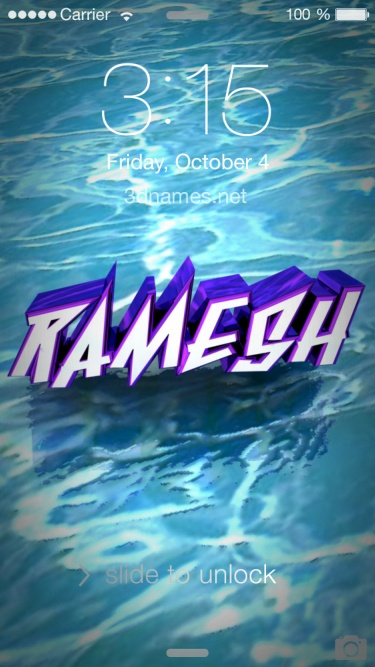 Ramesh Name Wallpaper