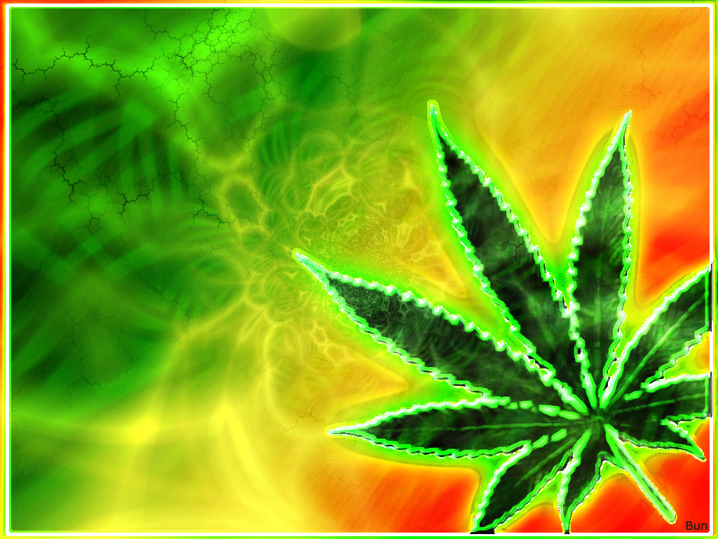 Rasta Weed Wallpaper