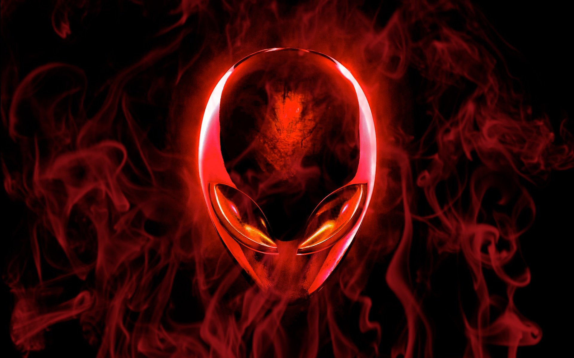 Red Alien Wallpaper