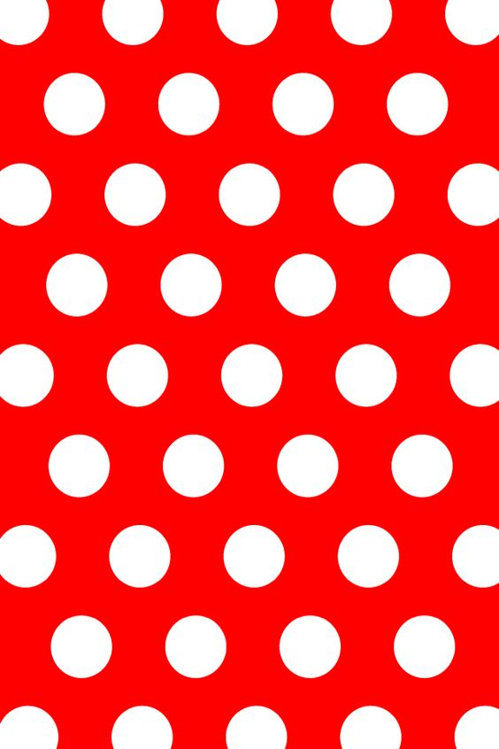 Red &Amp; White Polka Dot Wallpaper