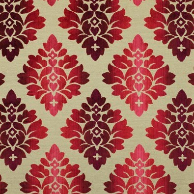 Red And Cream Damask Wallpaper
