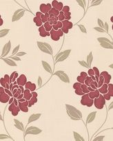 Red And Cream Flower Wallpaper