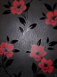 Red Black And White Wallpaper For Walls