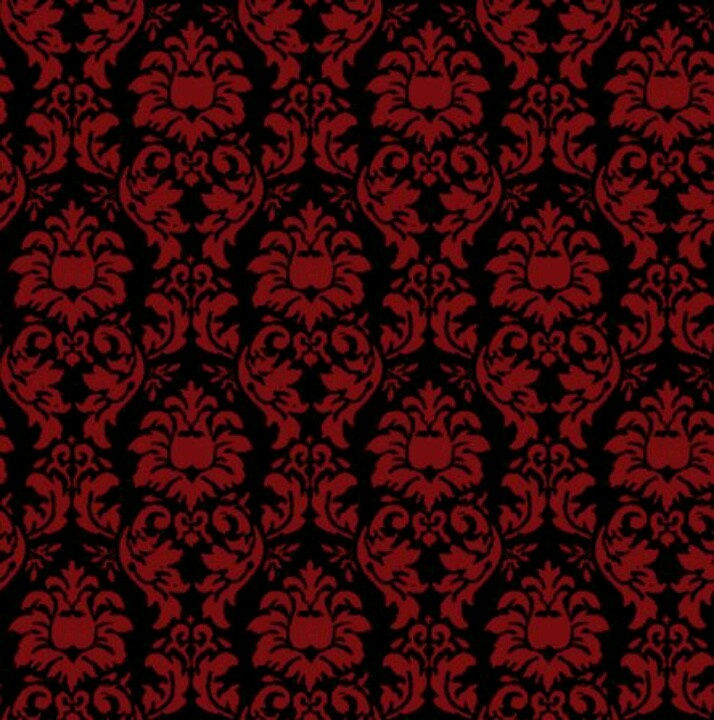 Red Black Damask Wallpaper