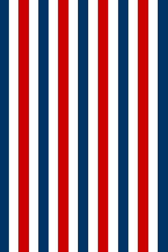 Red Blue And White Striped Wallpaper