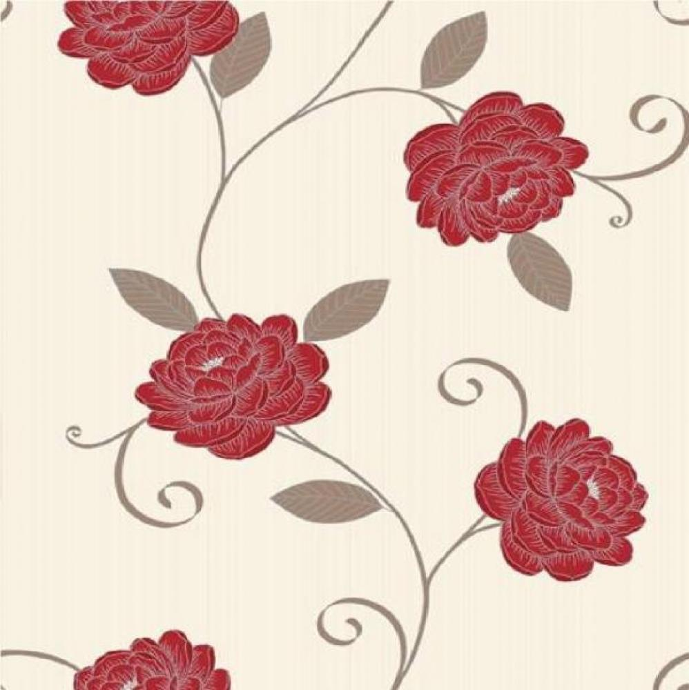 Red Brown And Cream Wallpaper