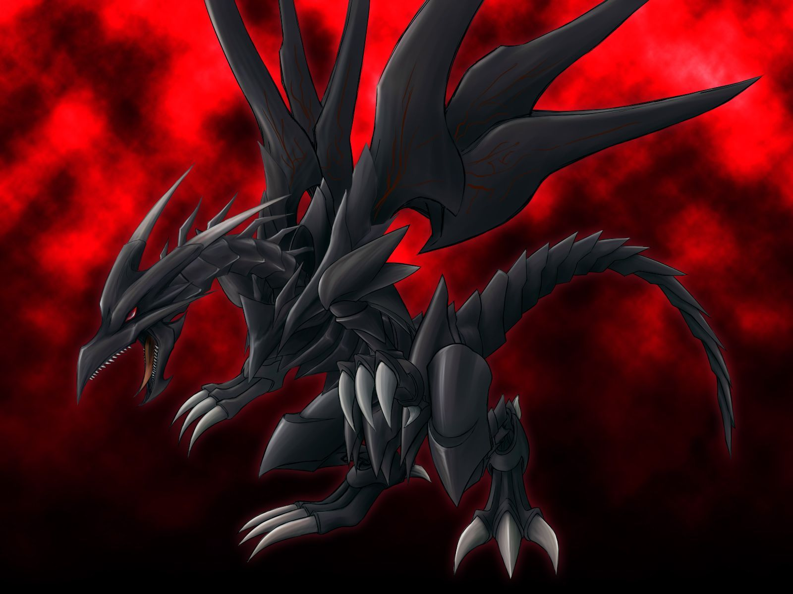 Red Eyes Black Dragon Wallpaper