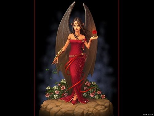 Red Fairy Wallpaper
