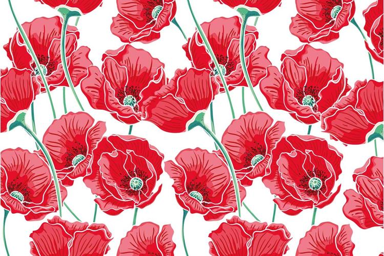 Red Flowery Wallpaper
