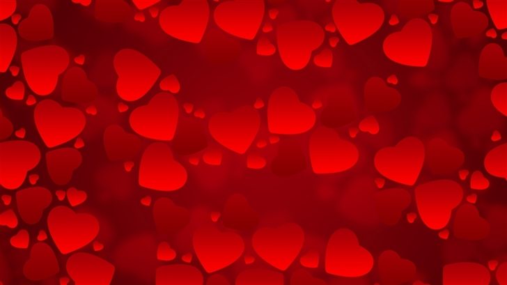 Red Hearts Wallpaper