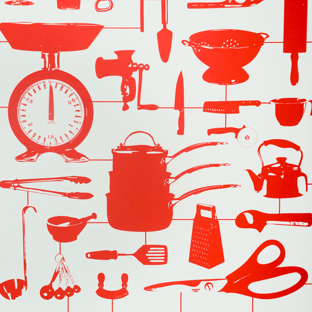 Red Kitchen Wallpaper