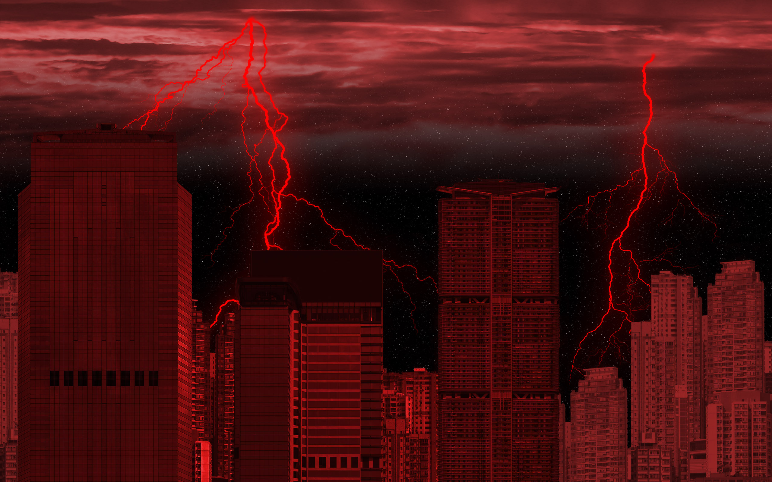 Red Lightning Wallpaper
