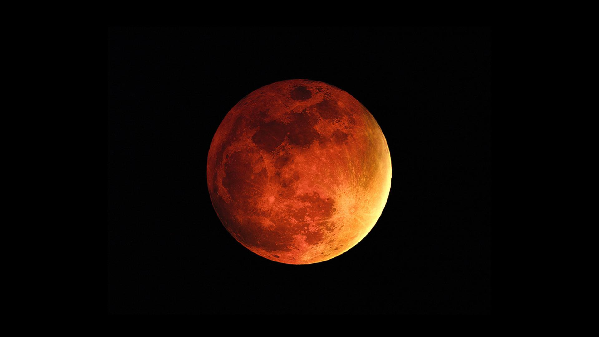 Red Moon HD Wallpaper