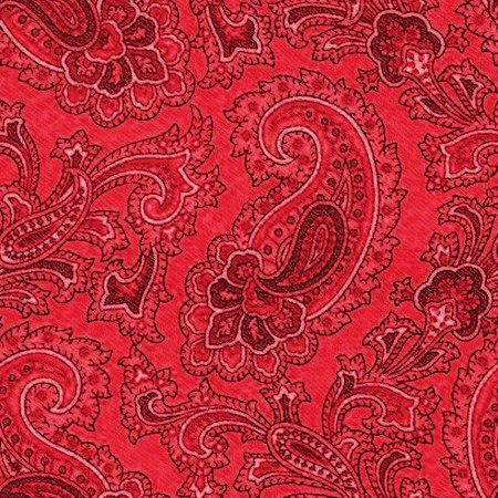 Red Paisley Wallpaper