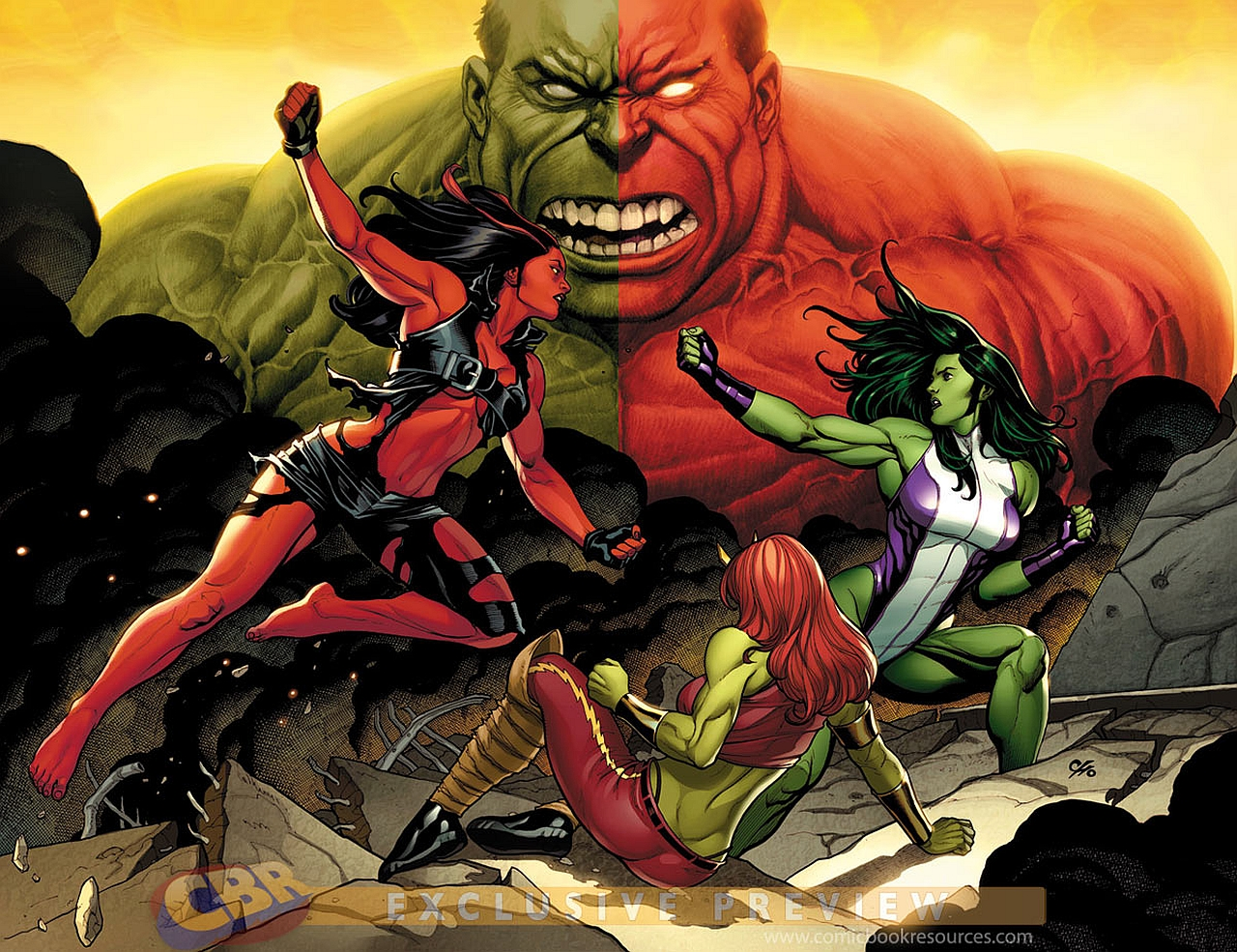 Red She Hulk Wallpaper