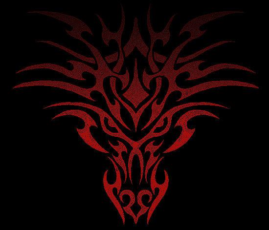 Red Tribal Wallpaper