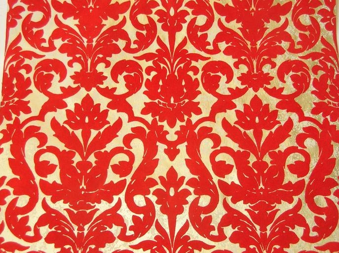 Red Velvet Wallpaper Old Fashioned