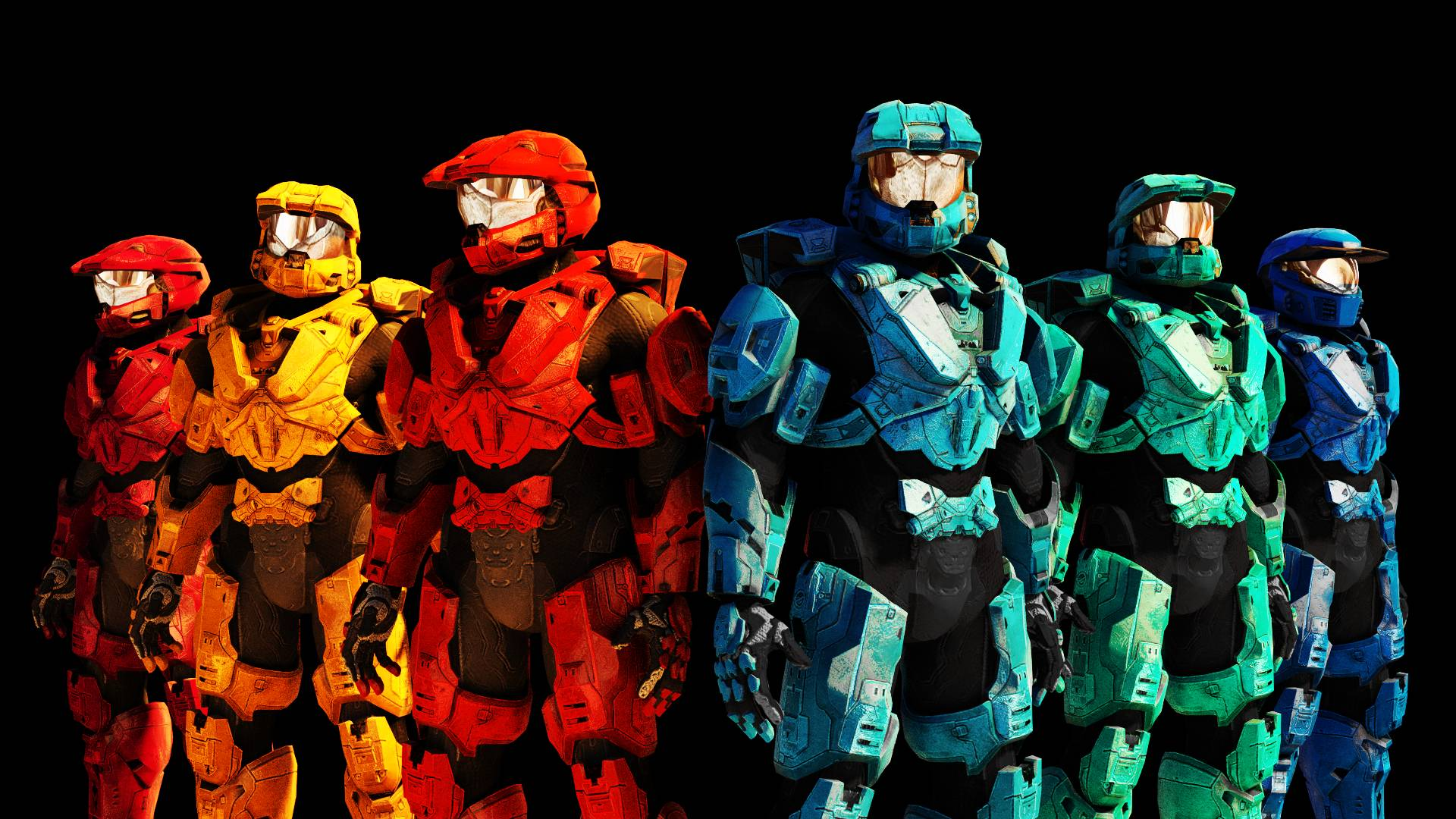 Red Vs Blue Wallpaper