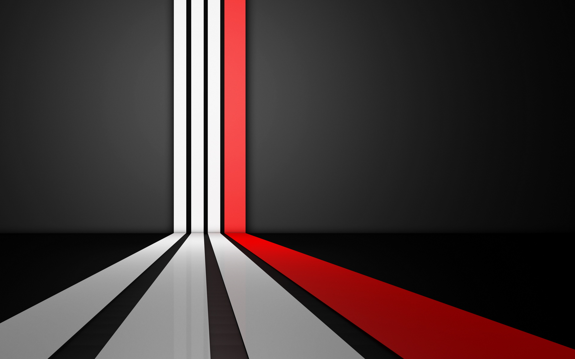 Red White And Black Striped Wallpaper