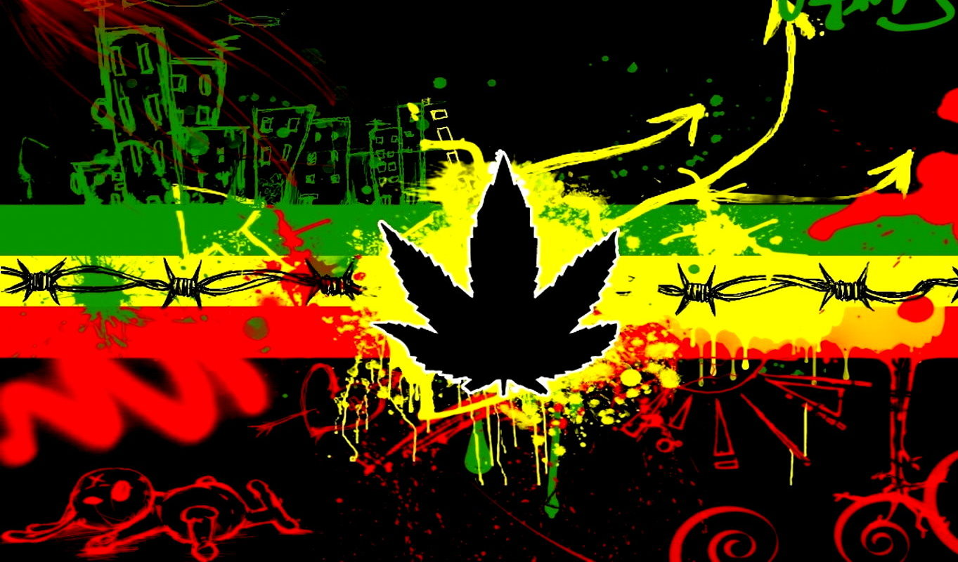 Reggae Design Wallpaper