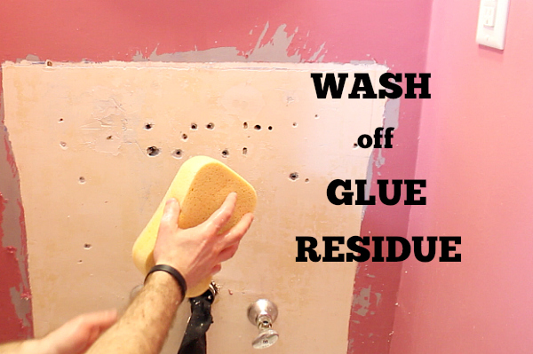 Removing Wallpaper Glue Residue