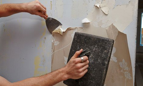 Removing Wallpaper With Steamer