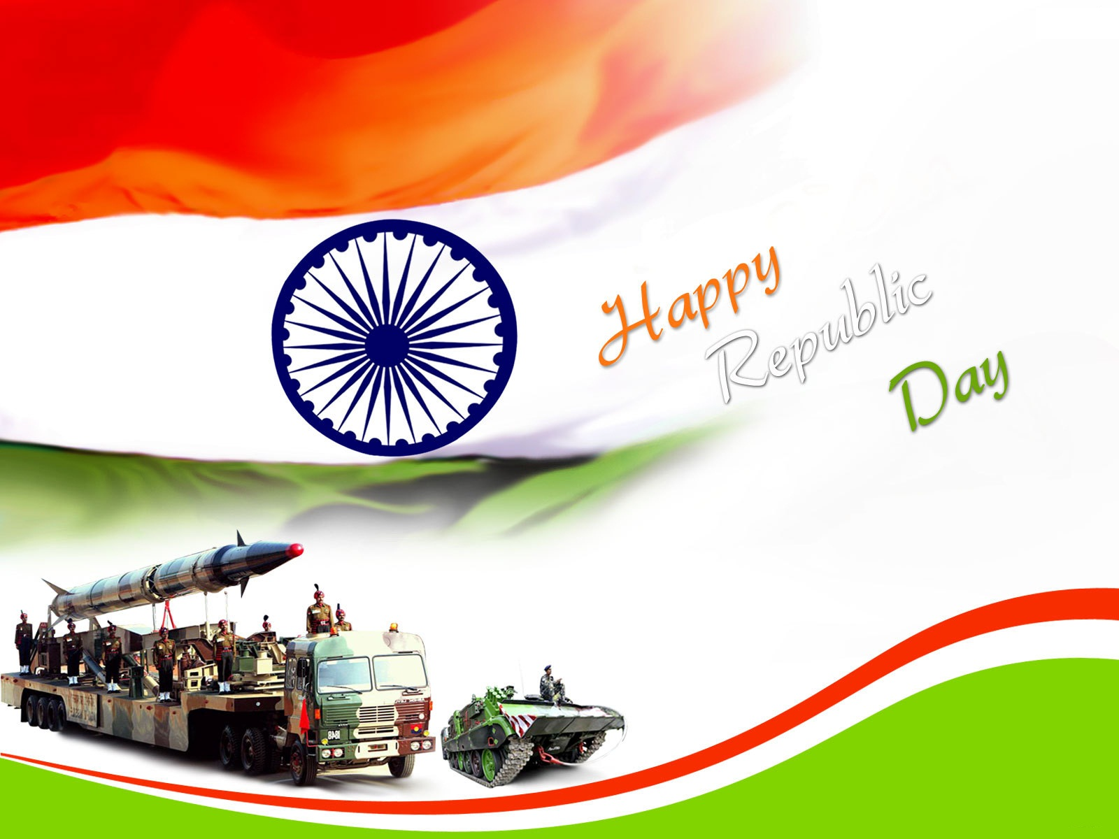 Republic Day Indian Flag Wallpaper