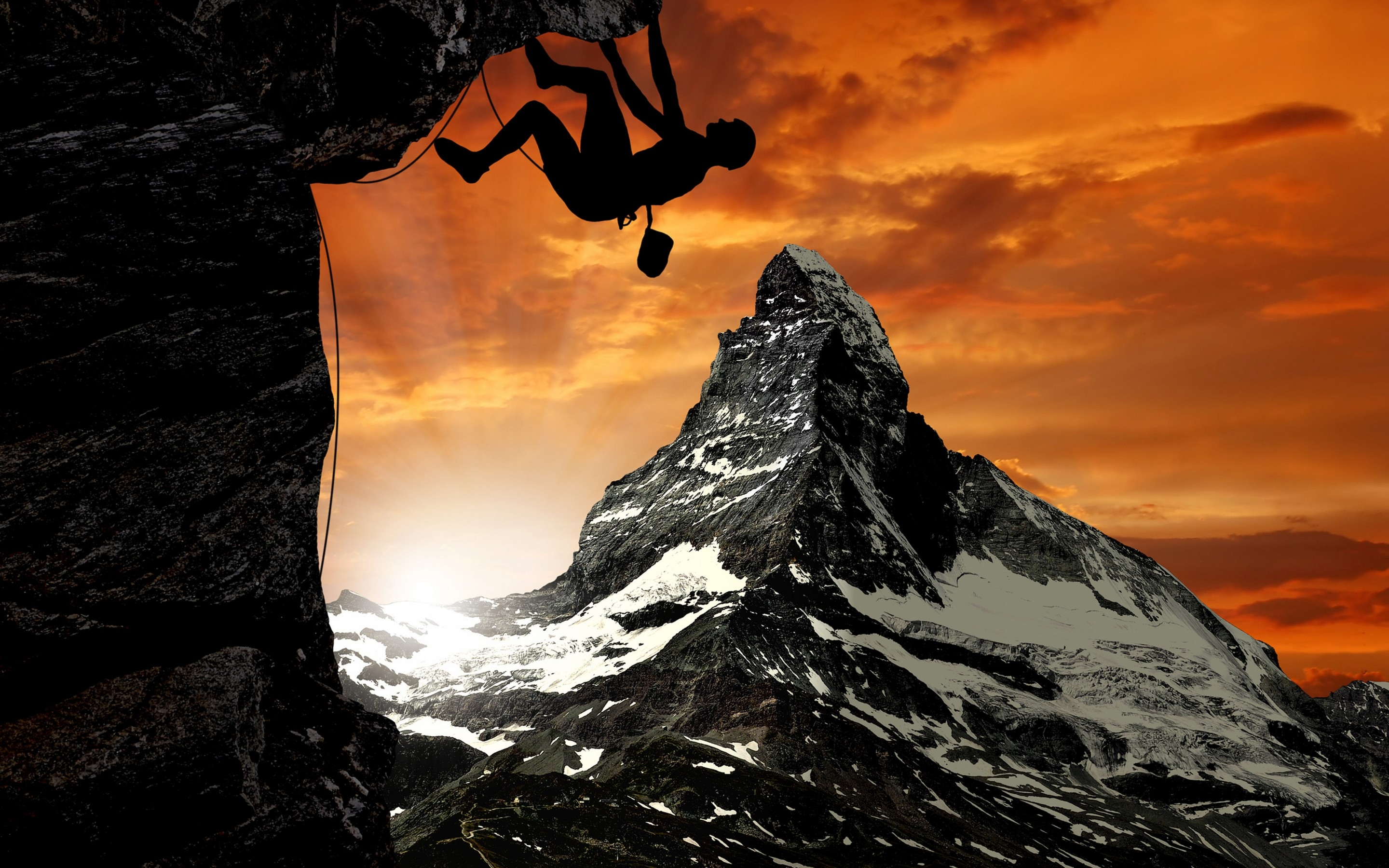 Climbing Humor - t Extreme mountain climbing pictures