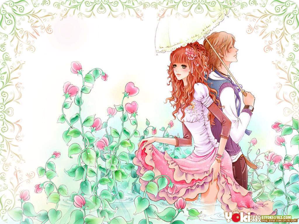 Download Romantic Love Cartoon Wallpaper Gallery