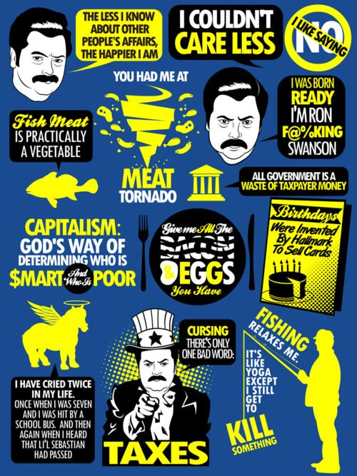 Ron Swanson Pyramid Of Greatness Wallpaper