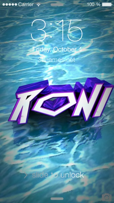 Roni Name Wallpaper